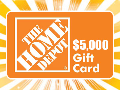 www.homedepotopinion.com, Enter Home Depot Survey Sweepstakes to Win a $5,000 Gift Card