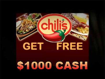 www.chilis-survey.com, Take Chili's Survey Sweepstakes for a $1000 Cash Prize