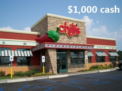 www.go-chilis.com, Take Chili's Survey Sweepstakes to win $1,000