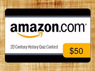 www.quiz-trivia.com/20-century-history-quiz-contest.aspx, Win Quizbook 20 Century History Quiz Contest Sweepstakes for $50 Amazon Gift Card