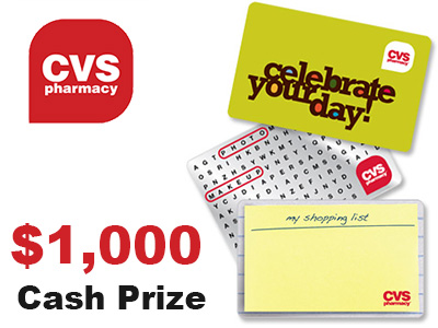www.cvssurvey.com/sss, Win $1,000 Cash at CVS Customer Survey Sweepstakes