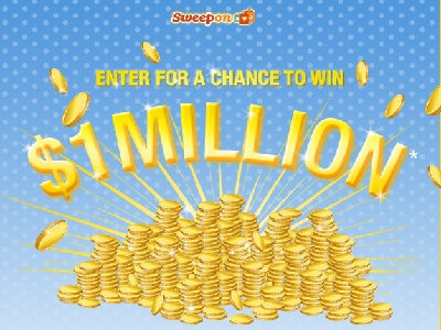 www sweepon com/sweepstakes - Enter to Win Sweepon Million Dollar
