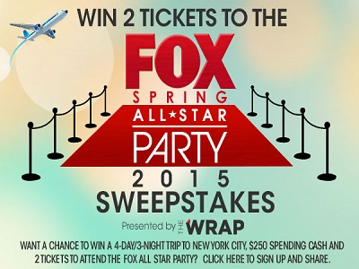www.thewrap.com.fox-all-star-sweepstakes - Win The Wrap 2015 FOX Spring All-Star Sweepstakes