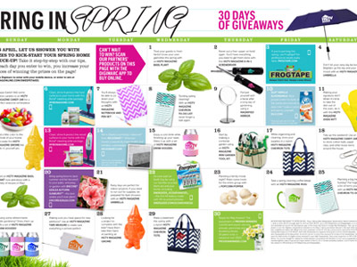 HGTVMagOnline.comSweepstakes - Win HGTV Magazine Ring in Spring Daily Sweepstakes