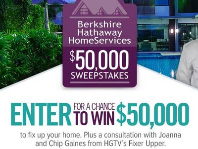 www.hgtv.comsweepstakes - Join HGTV Berkshire Hathaway Homeservices $50,000 Sweepstakes