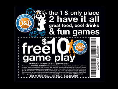 www.dnbsurvey.com - Win $10 Game Play Coupon in Dave & Buster's Customer Survey
