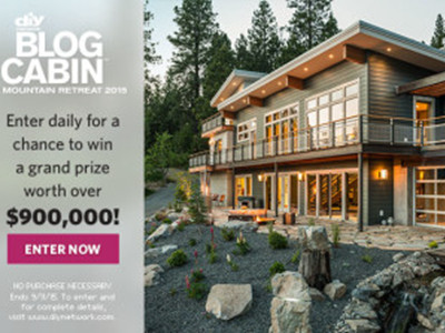 www.diynetwork.com - Win DIY Network Blog Cabin Giveaway